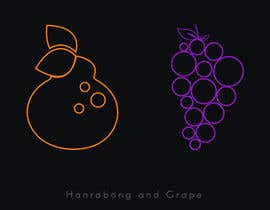 #29 for draw Hanrabong and Grape in vector illutration af jarvisdesigning