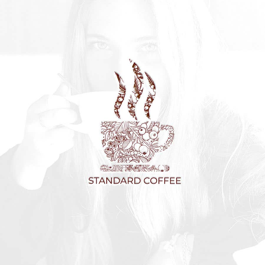 Konkurrenceindlæg #358 for Coffee shop logo design 1- Preferably, it should be related  to the name 2- It is simple and attractive 3- He should be attractive in colors such as red, black and white Cafe name (standard coffee)
