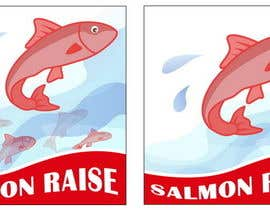 nº 9 pour Cartoon for Salmon Swimming Upstream par Stevieyuki