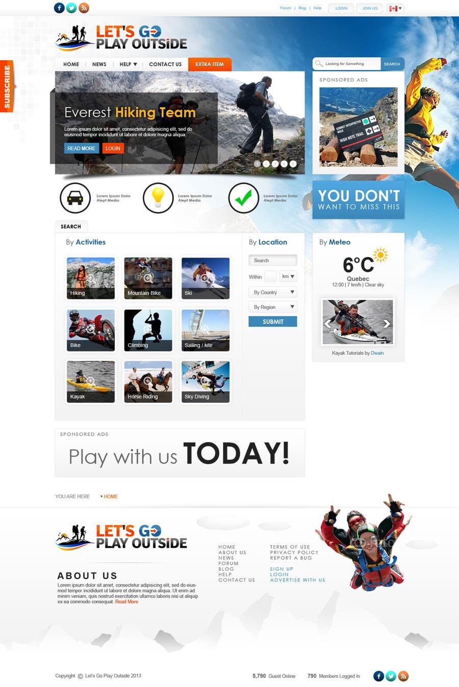 Bài tham dự cuộc thi #                                        37                                      cho                                         Website Design for Let's Go Play Outside