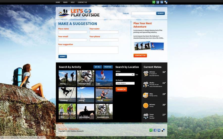 Kilpailutyö #20 kilpailussa Website Design for Let's Go Play Outside