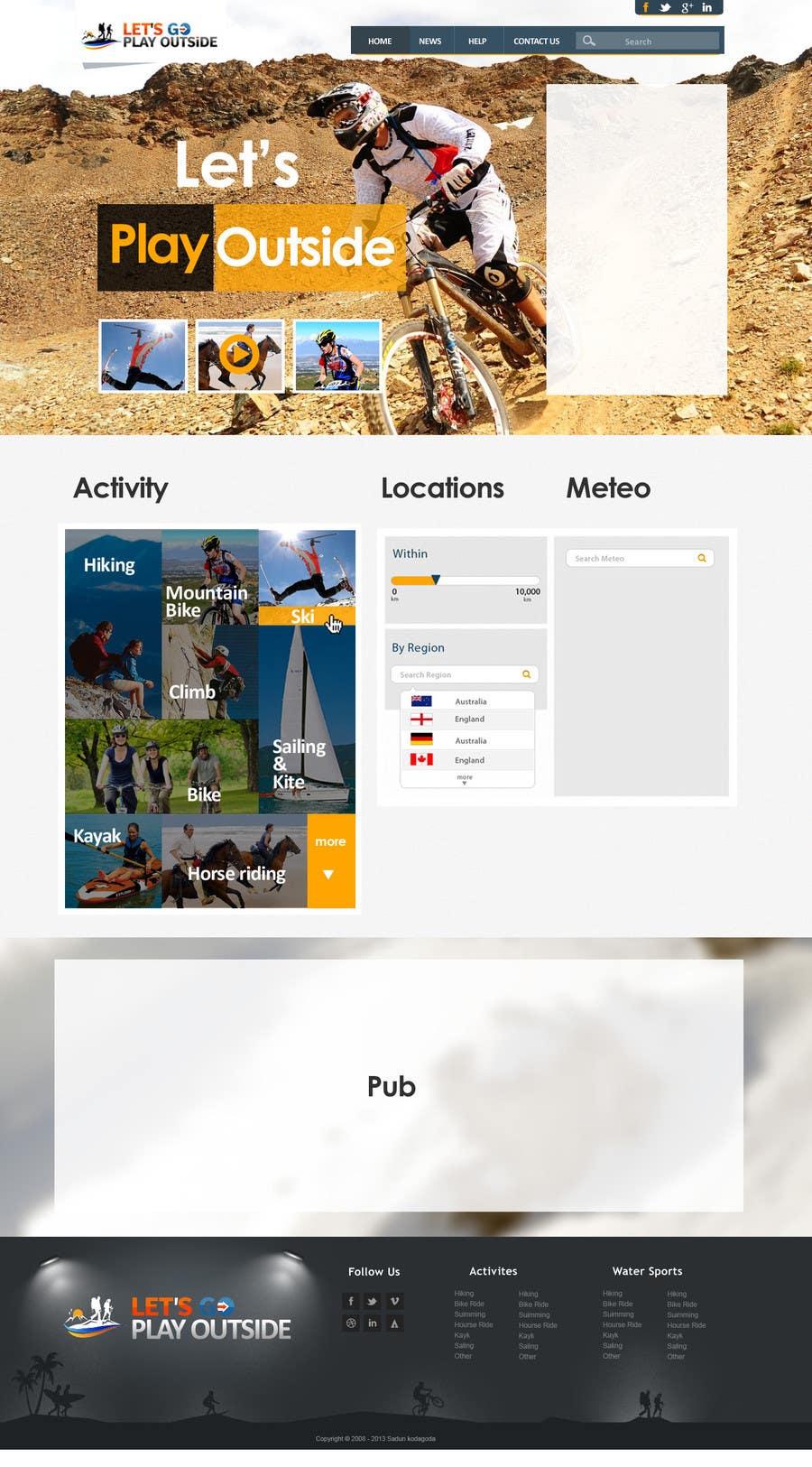 Kilpailutyö #11 kilpailussa Website Design for Let's Go Play Outside