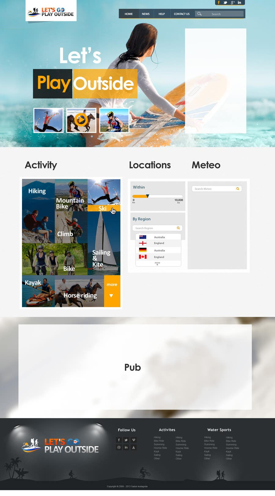 Bài tham dự cuộc thi #                                        12                                      cho                                         Website Design for Let's Go Play Outside