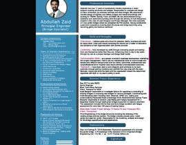 #20 for Professional CV Design (Resume) af abujafarbbd91