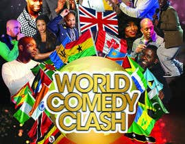 #8 for A5 Flyer Front - World Comedy Clash af okisaGraphics