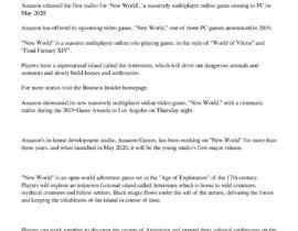 #5 untuk Write a 1000 word game related article oleh rk8054100