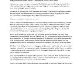 #14 untuk Write a 1000 word game related article oleh Saintwinston