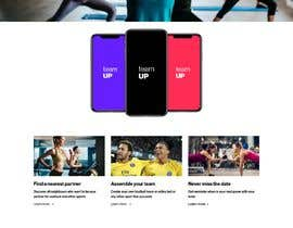 #27 for Build A Mockup Landing Page for a Fitness App af hfzwhd