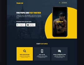 #19 for Build A Mockup Landing Page for a Fitness App af cp9266