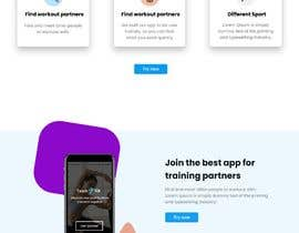 #25 for Build A Mockup Landing Page for a Fitness App af prodesigner23