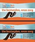 Graphic Design Konkurrenceindlæg #8 for Business Card Design for Copytech.nl