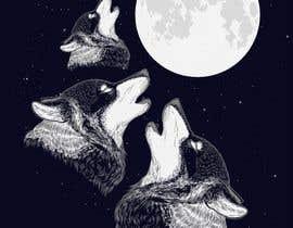 #17 for Create Three Wolves Design for Planters af arash92blc