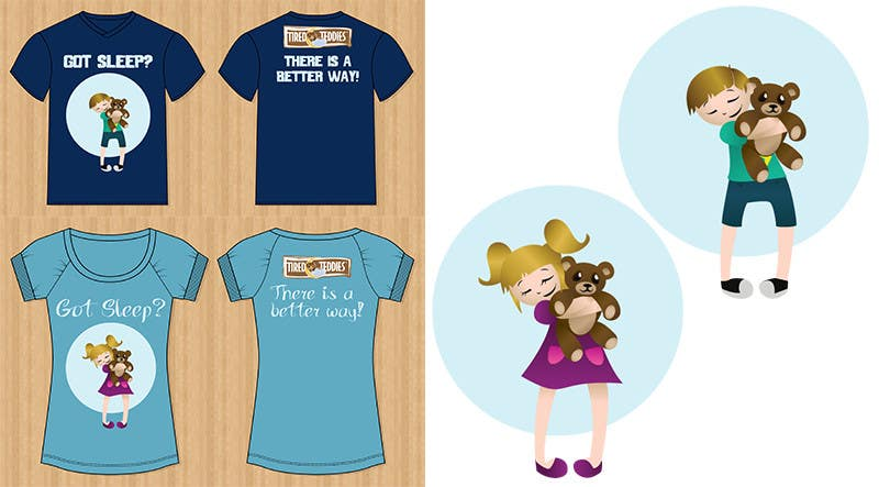 Proposition n°                                        15                                      du concours                                         T-shirt Design for Tired Teddies Guerrilla Marketing Campaign