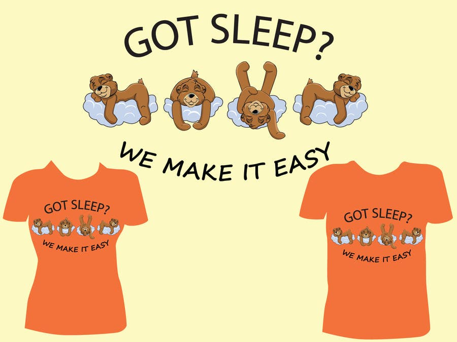 Proposition n°                                        18                                      du concours                                         T-shirt Design for Tired Teddies Guerrilla Marketing Campaign