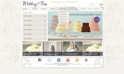 #11 for Website Design for Wedding Portal by BRUSHHOUSE