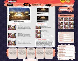 #14 per Website Design for eFestivals da Vmuscurel