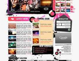 #11 para Website Design for eFestivals por FatXGraphics