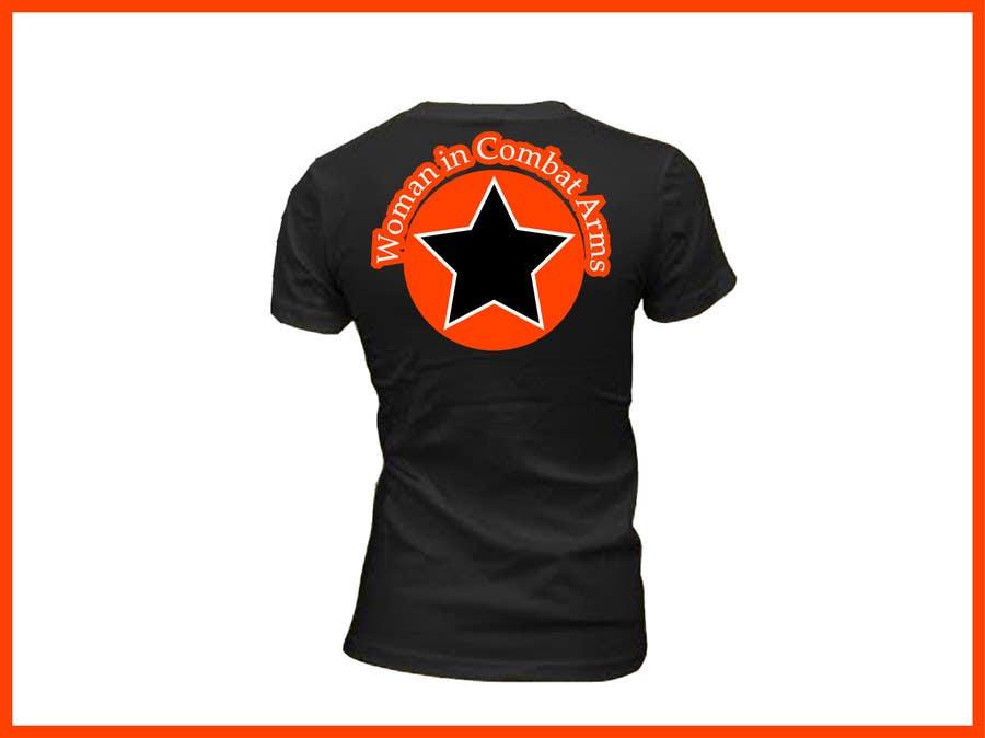 Kilpailutyö #                                        2                                      kilpailussa                                         T-shirt Design for Military Apparel.