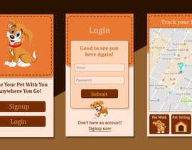 #11 for Design Login (home) app screen and theme for a Phone app af FatemaDhirani