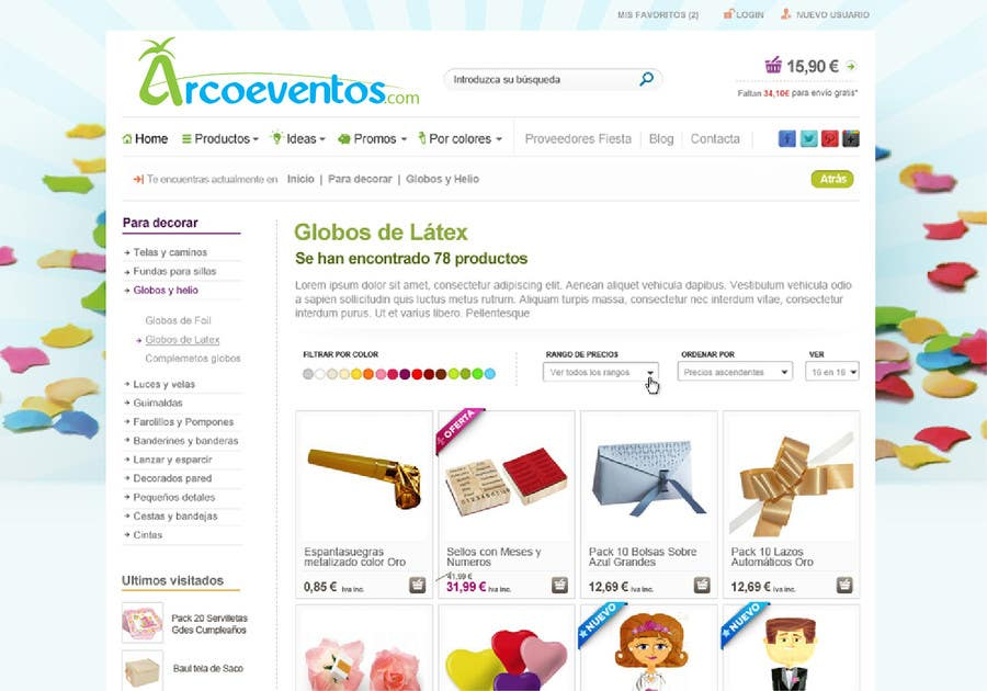 Kilpailutyö #                                        68                                      kilpailussa                                         Logo Design for ArcoEventos.com