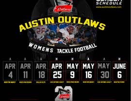 #31 for Womens Tackle Football Season Schedule by DESIGNERpro11
