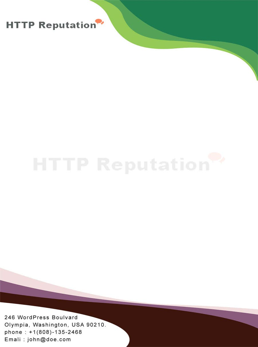 #1 for Business Card and letter head Design for httpreputation by anuprai56