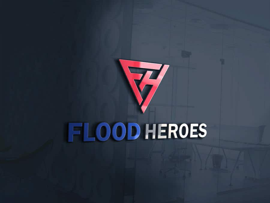 Kilpailutyö #                                        193                                      kilpailussa                                         Flood Heroes Logo