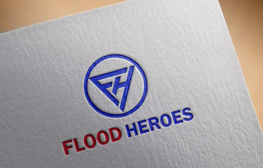 Kilpailutyö #                                        194                                      kilpailussa                                         Flood Heroes Logo