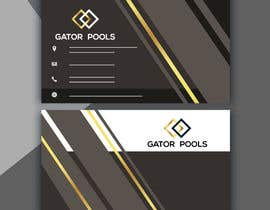 #35 для I need a logo and business card designed for my pool service company called gator pools, ideally I'd like the font with a cool cartoon gator with a t shirt on and a pool net or something better if anyone has a better idea. от moinarajshahi