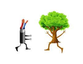 #177 for Make a picture of a tree hugging copper by sabbirmollik129