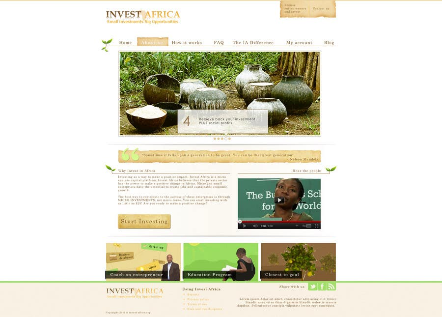 Contest Entry #                                        4                                      for                                         Graphic Design for Invest Africa