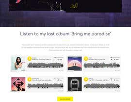 nº 75 pour Build a website for a singer par mudimudimudi