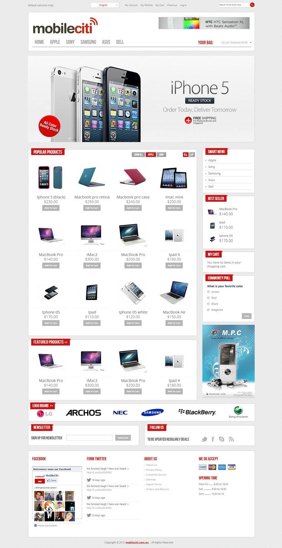 #38 for Website Design for Magento by dragnoir