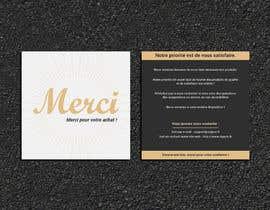 #76 para Create/Design a Thank You card for customers purchase por Designopinion