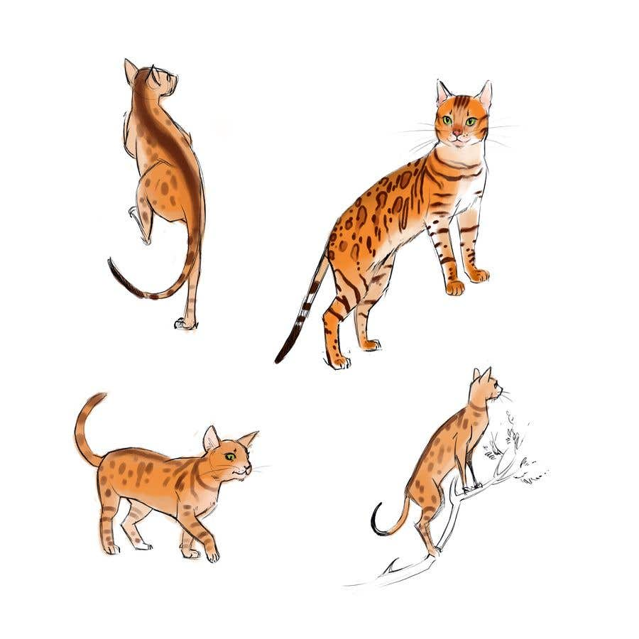 Конкурсная заявка №                                        27                                      для                                         Digital Artist for Multi-Book Deal - must be able to draw realistic, elegant cats (& other animals)