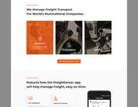 Nro 12 kilpailuun Design Freightlancer.com home pages käyttäjältä dipankarmaikap77