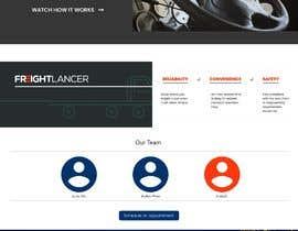 Nro 20 kilpailuun Design Freightlancer.com home pages käyttäjältä pratham5315