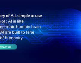 #85 cho Web banner full screen about Artificial Intelligence bởi OKPdesigner