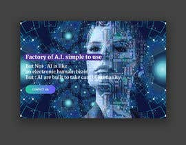 #56 cho Web banner full screen about Artificial Intelligence bởi designmenia