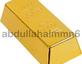 """#7 for I want a high resolution single gold bar on a white background. Centered and not too big. Standing up the long way, with the words """"Sudden Wealth"""" in matte black. One word on each side of the gold bar by abdullahalmmn6"""