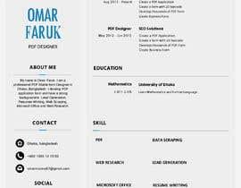 #229 untuk Professional resume design oleh dataentry4expert
