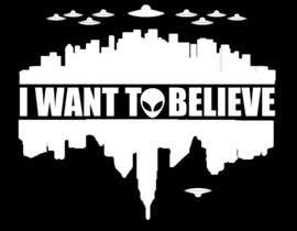 "#41 untuk T-shirt Design for ""I Want To Believe"" UFO shirt. oleh amitpadal"