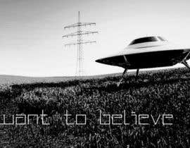 "#29 untuk T-shirt Design for ""I Want To Believe"" UFO shirt. oleh kittikann"
