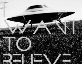 "#37 para T-shirt Design for ""I Want To Believe"" UFO shirt. por kittikann"