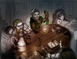#32 dla Draw an image of D&D Characters in a tavern przez nephilimrock