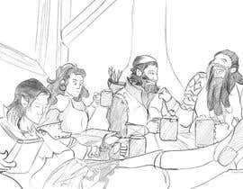#20 dla Draw an image of D&D Characters in a tavern przez shubhambakre