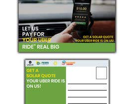 "#23 dla Postcard for ""Let Us Pay for Your Uber Ride"" przez Nargis008"