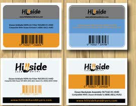 #29 dla Design us product labels with logo text and barcodes. przez ummulsayeda
