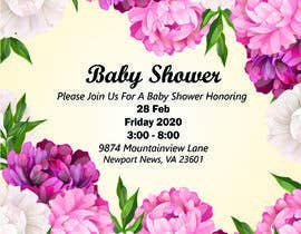 #6 dla Create a baby shower event invite for facebook przez WahajRocky