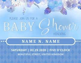 #33 dla Create a baby shower event invite for facebook przez ChristianSS05